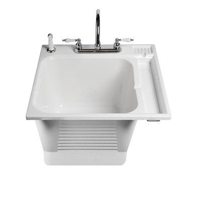 Captivating ASB 104050.0 White Drop In Plastic Utility Tub