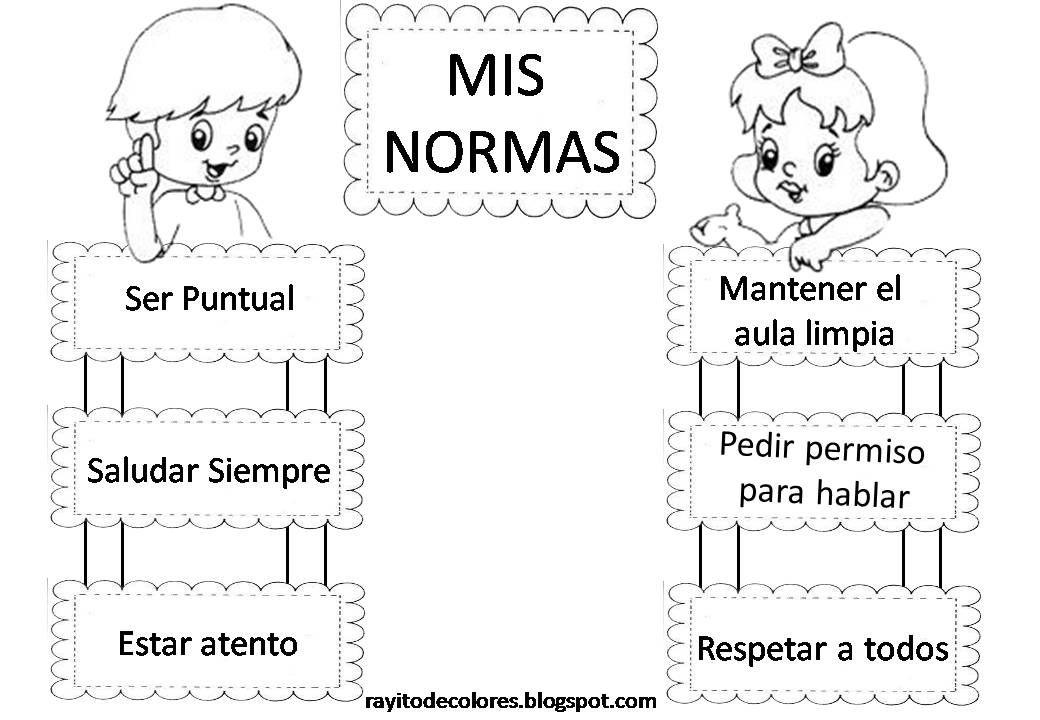 Normas Basicas Normas Del Aula Reglas De Clase Normas De Clase