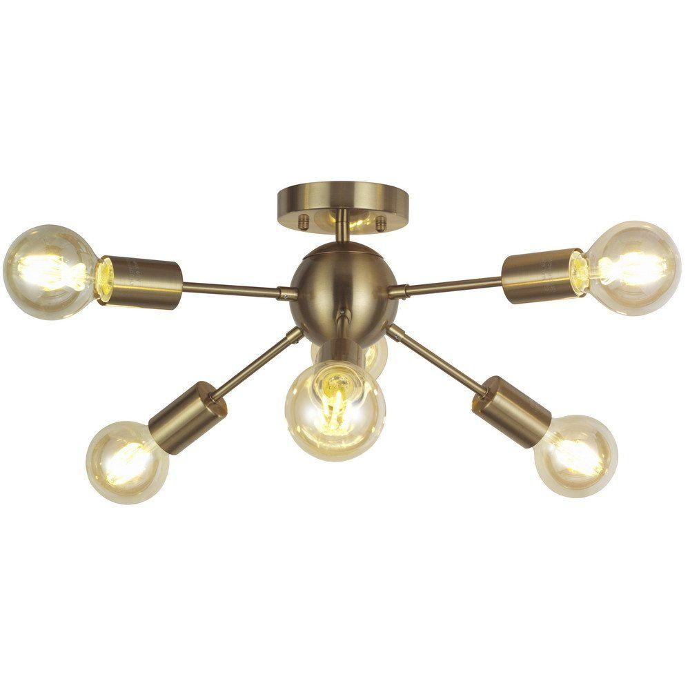 mid century pendant lighting. Sputnik Chandelier Lighting 6 Lights Brass Modern Ceiling Light Gold Mid Century Pendant By TUDOLIGHT M