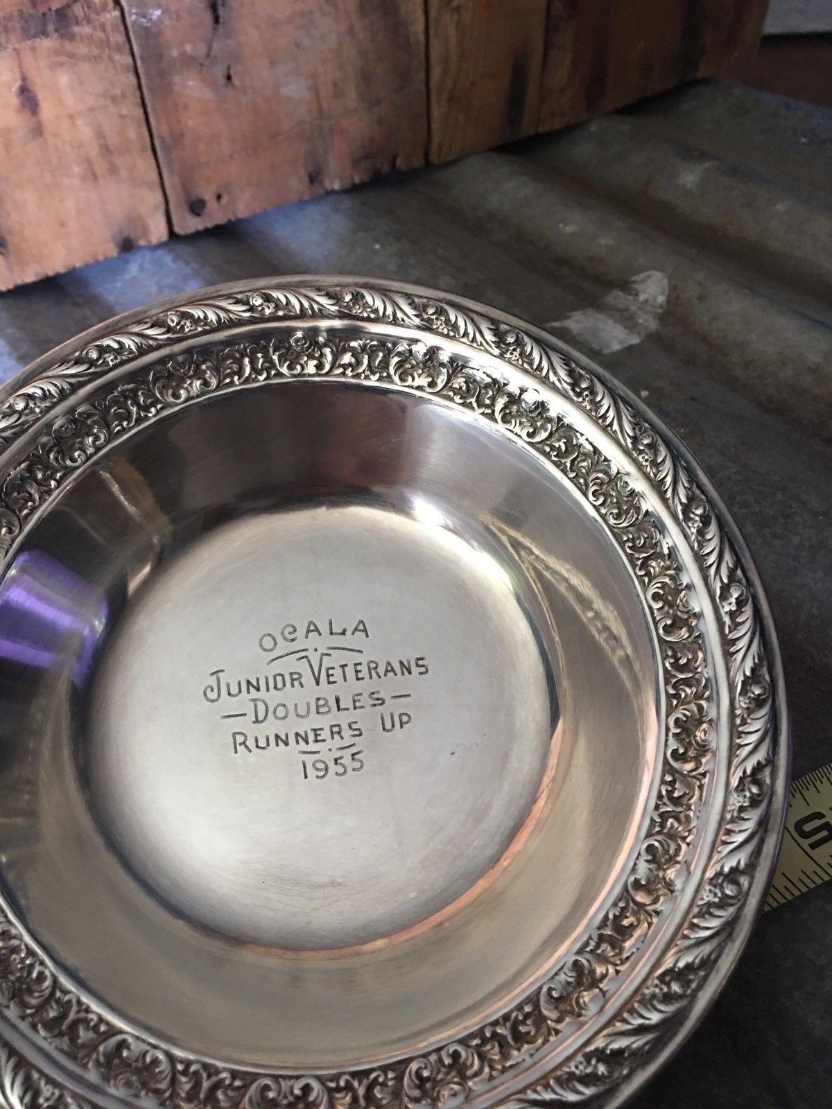 Vintage Sp Ocala Fl Tennis Trophy 1955 Doubles Ornate Bowl Farmhouse Decor Ebay Farmhouse Decor Tennis Trophy Vintage
