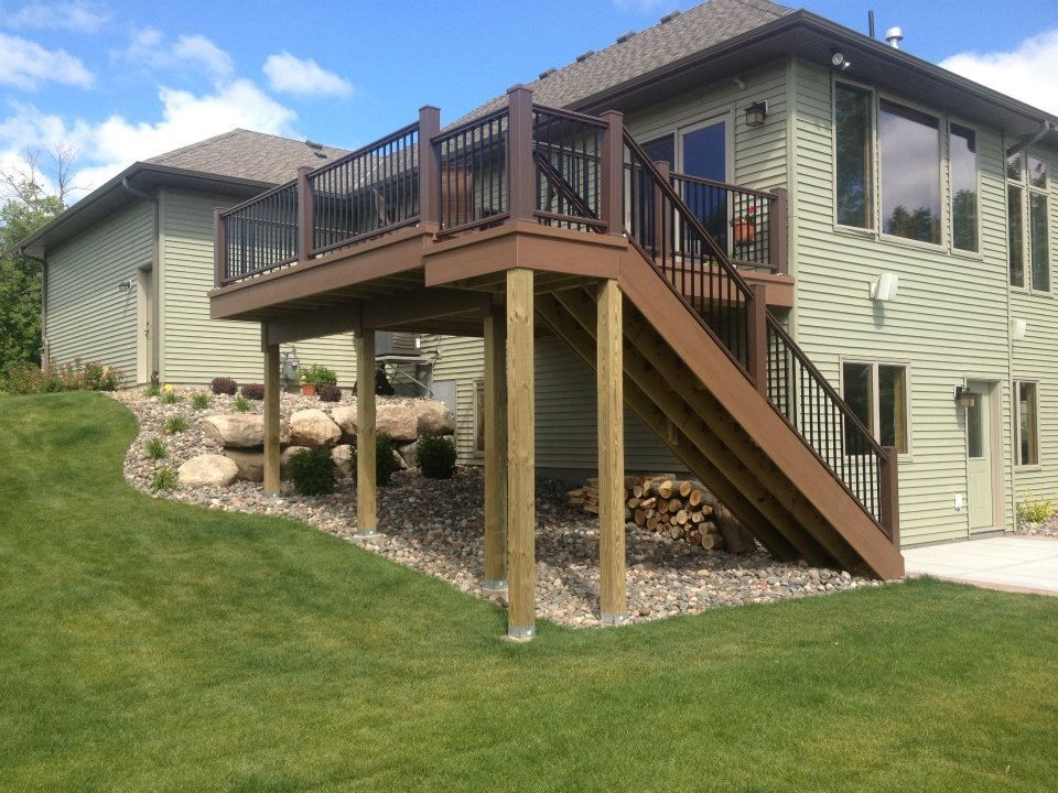 Best Two Story Decks With Stairs Deck Floor Http Www 400 x 300