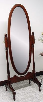 Antique Oval Cheval Mirror This Would Be A Nice Gift For That