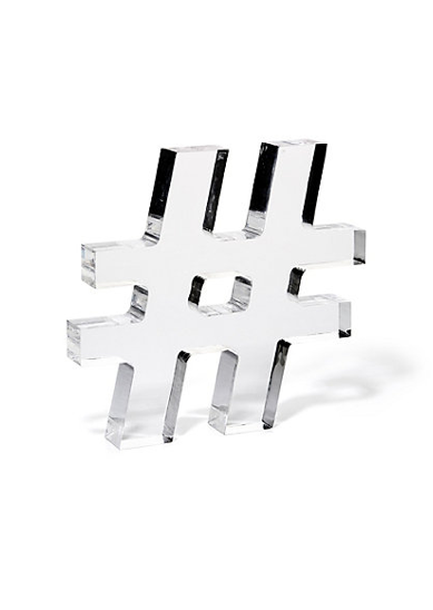 Lucite acrylic hashtag cute for office desk home for Office design hashtags