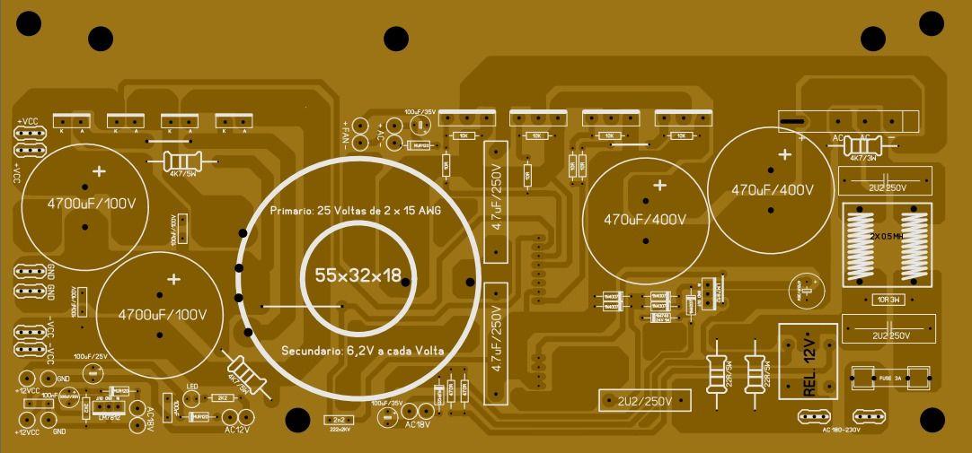Fonte Chaveada 2000w Sg3525 Ir2110 Placa De Circuito Fontes
