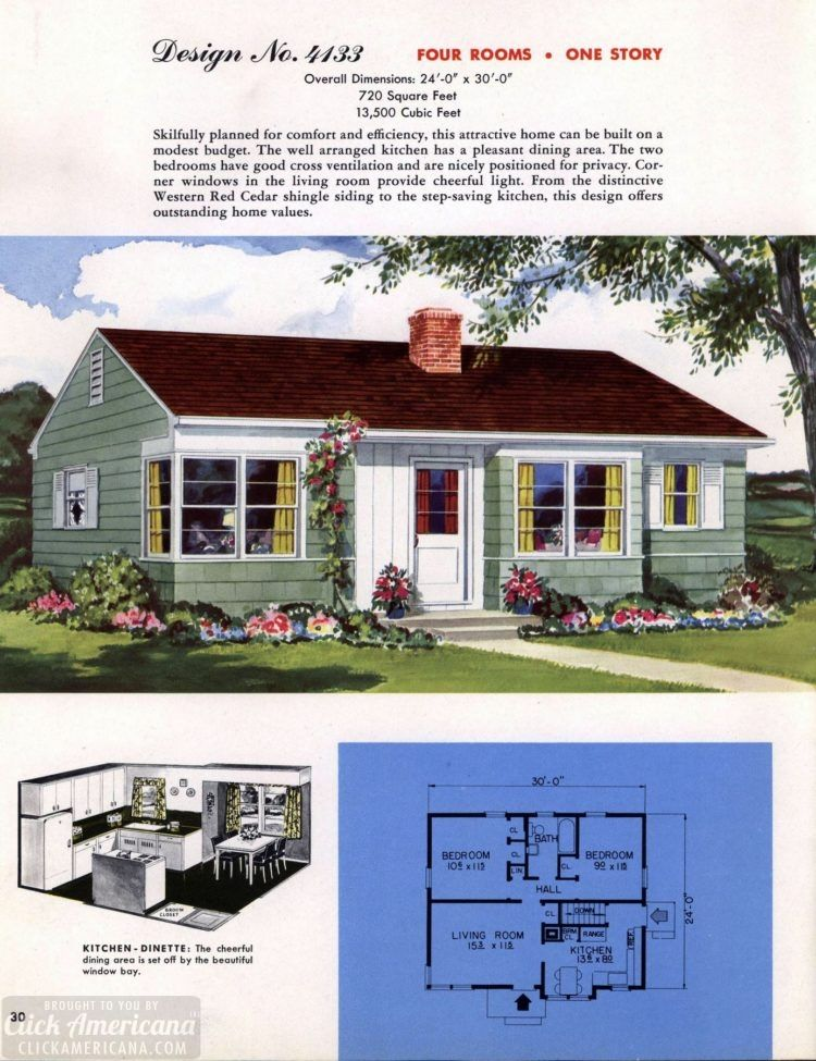 130 Vintage 50s House Plans Used To Build Millions Of Mid Century Homes We Still Live In Today Vintage House Plans Mid Century House Classic House