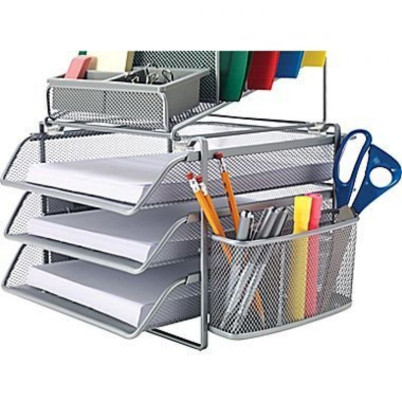 desk decobros acs organizer staples supplies caddy goods product black
