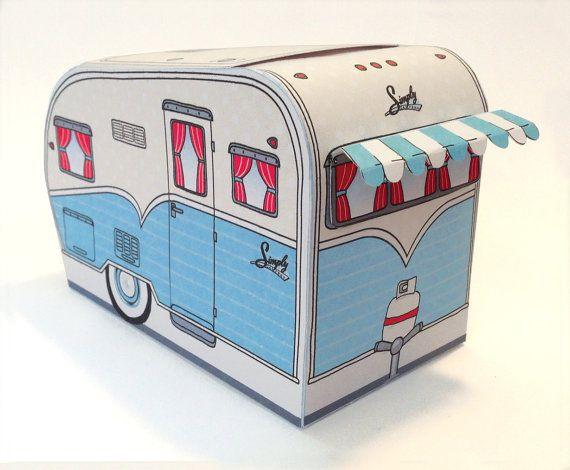 1950s Rv Camper Trailer Box Caravan Box By Simplyeverydayme Caravan Gifts Retro Campers Rv Campers