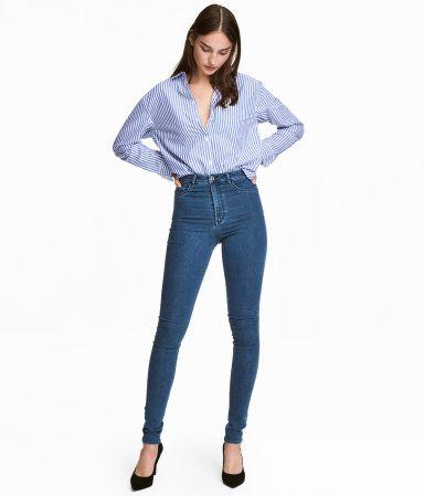 1db38378441a0 Super Skinny High Jeggings | Blue | WOMEN | H&M US | Clothing Shops ...