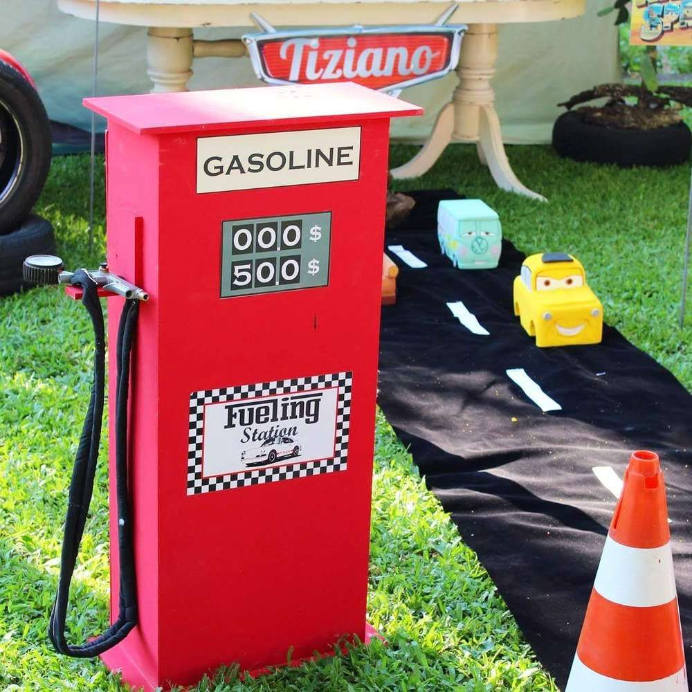 Cars Party Decorations Motor Oil Can Wrappers Party Decoration Vintage Race Car Party