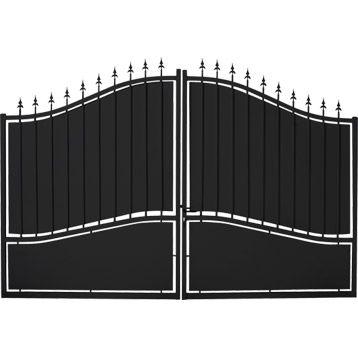 Portail Fer Battant Tangara 160 X 300cm Leroy Merlin 299 E Portail En Fer Portail Portes D Entree En Fer Forge