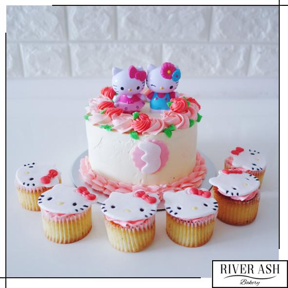 Hello Kitty Floral Cakecupcakes Bundle Kids Themed Cakes