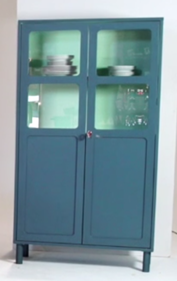 Dark Teal & Turquoise Kitchen Cabinet images