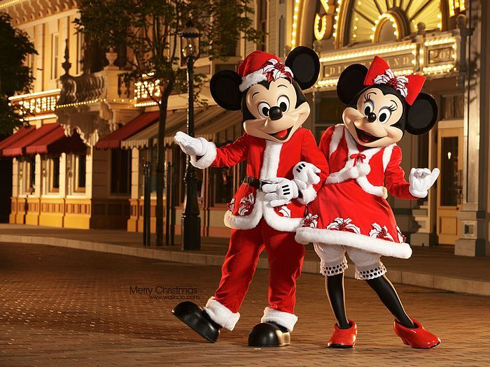 Mickey Mouse and Minnie Mouse in New Christmas Costumes - Mickey Mouse And Minnie Mouse In New Christmas Costumes The Many