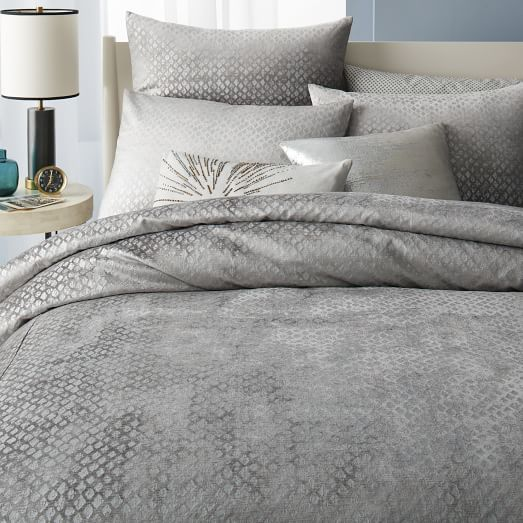 If You Like Restoration Hardware West Elm May Have Some Things You Like As Well This Bedding Set Is Gorgeous And Hot Velvet Duvet Duvet Covers Textured Duvet