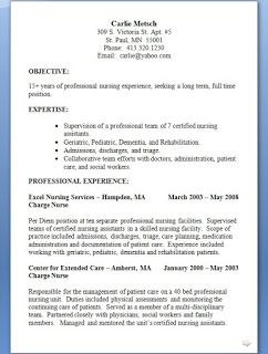 Charge Nurse Resume Charge Nurse Resume Format In Word Free Download Sample Template