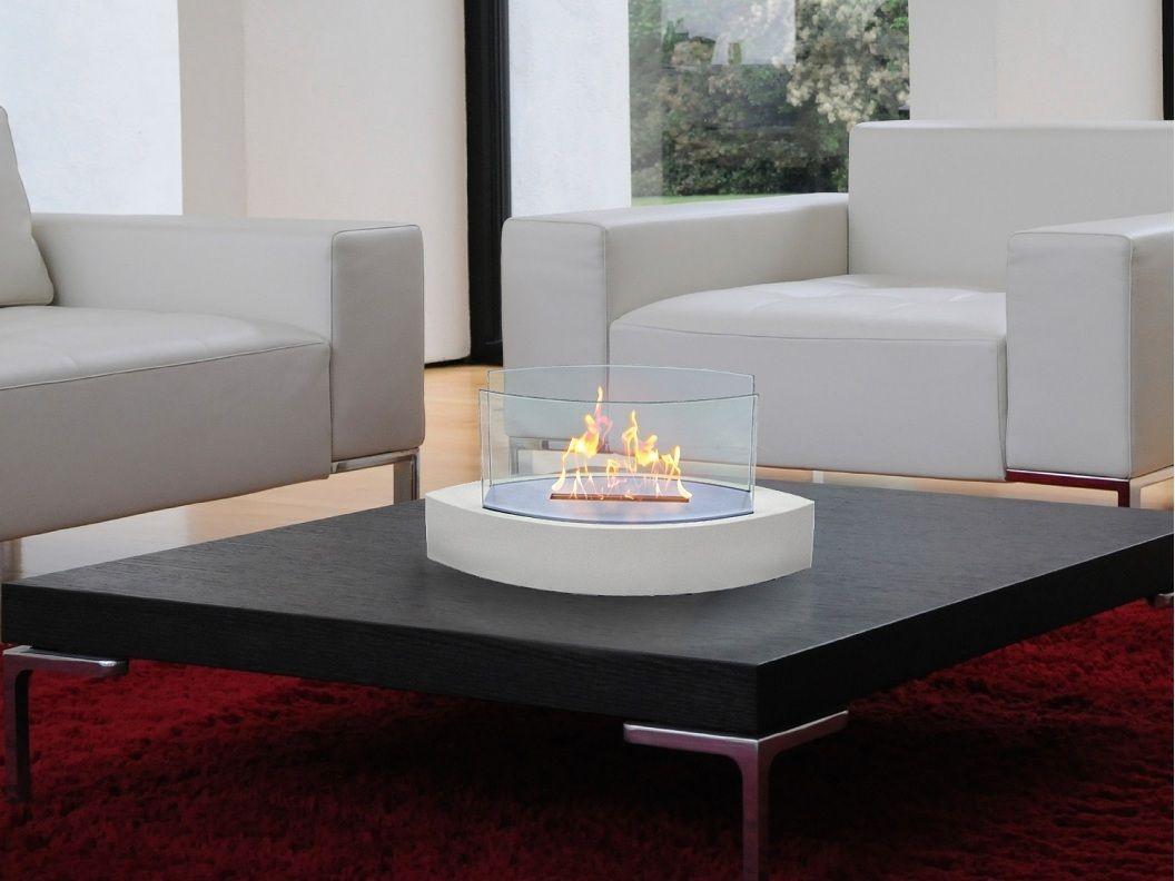 Lexington Indoor Outdoor Tabletop Fireplace 128 Living Room
