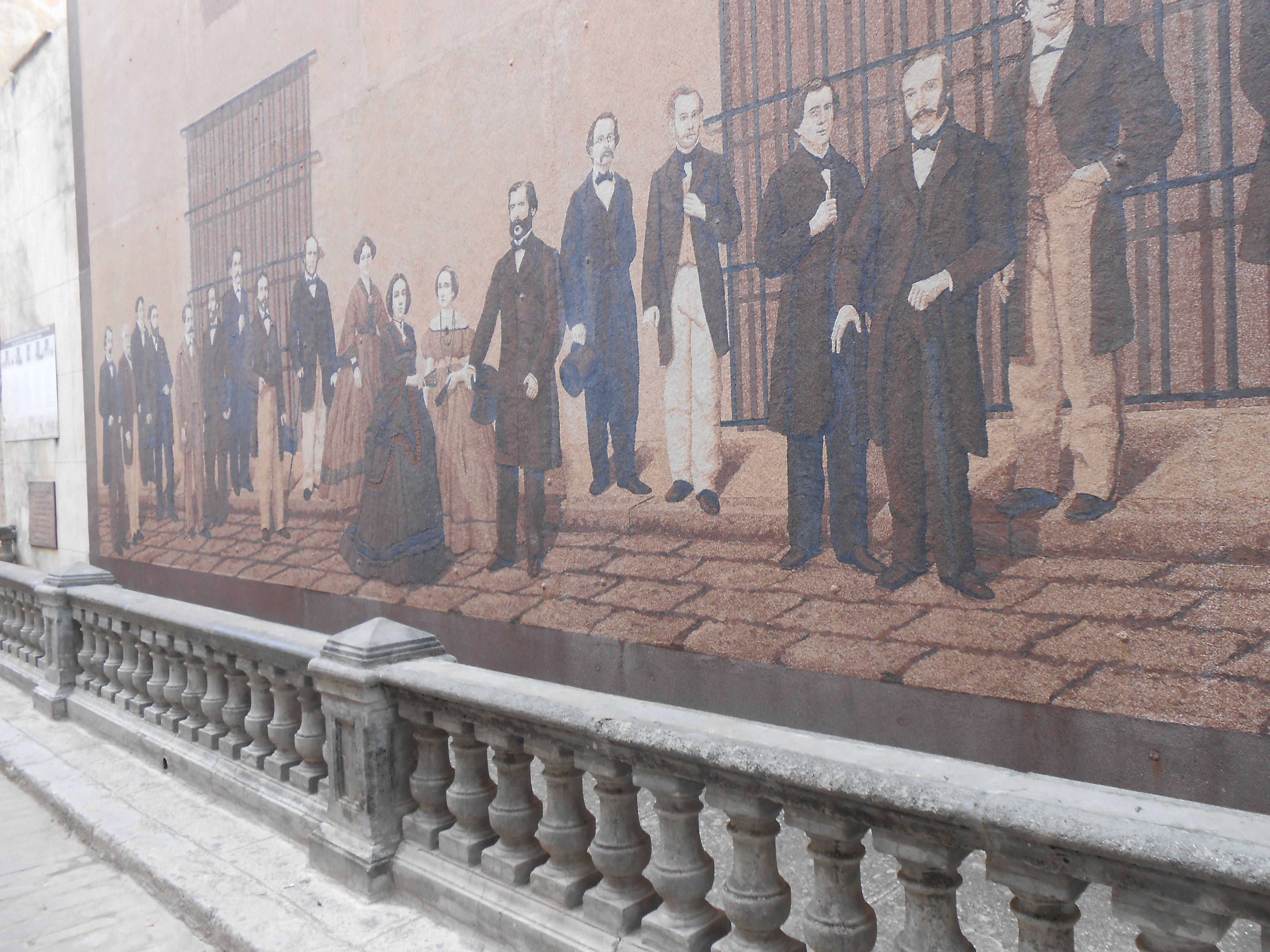 Old Havana. Mural.