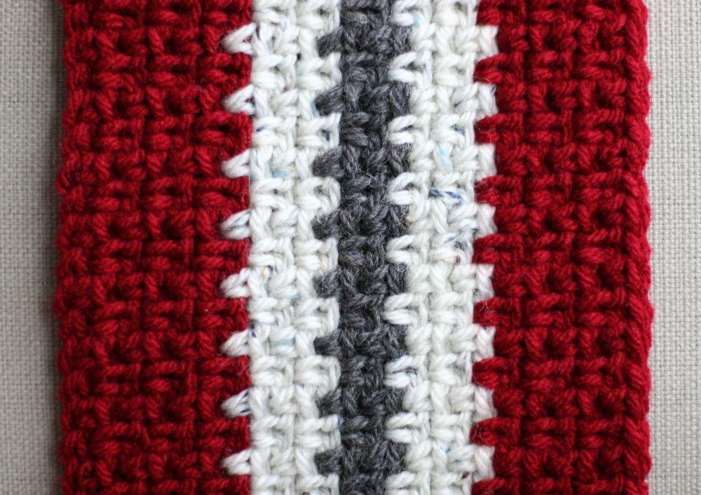 Vertical Stripe Crochet Scarf (Unisex) — Eating Out Loud | Crochet ...