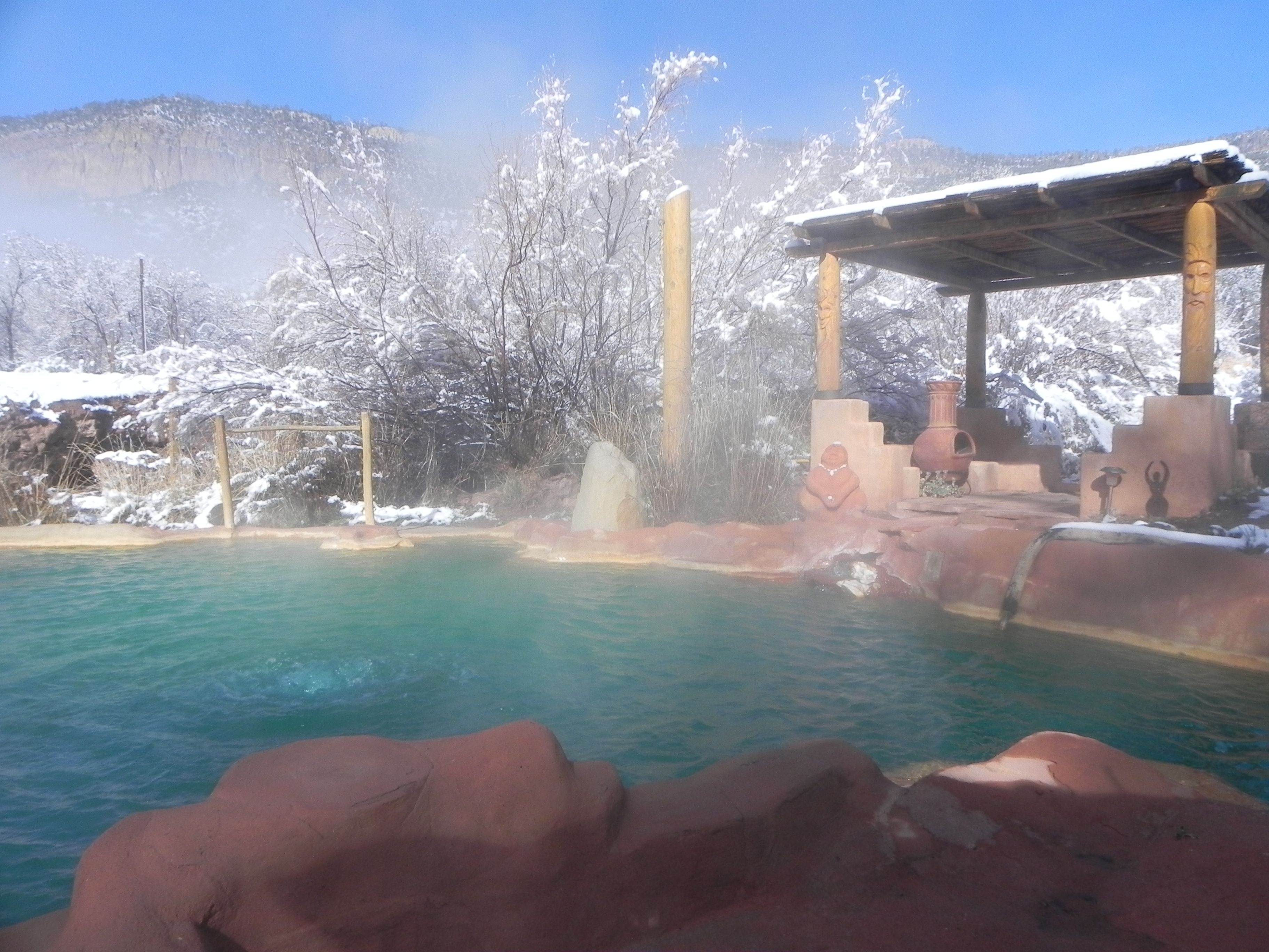 View from above - Picture of Spence Hot Springs, Jemez