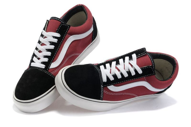 Skool N Vans Canvas Suede Black vans Darkred Old 6SCHp