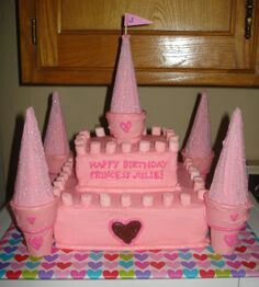 Diy Castle Cake Princess Birthday Cake Princess Castle Cake