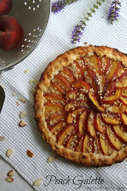This Peach Galette is not only gorgeous but it tastes Devine. And it is actually quite easy to make. But it looks fancy. Good way to impress your guests or family or yourself ha ha. YUM!
