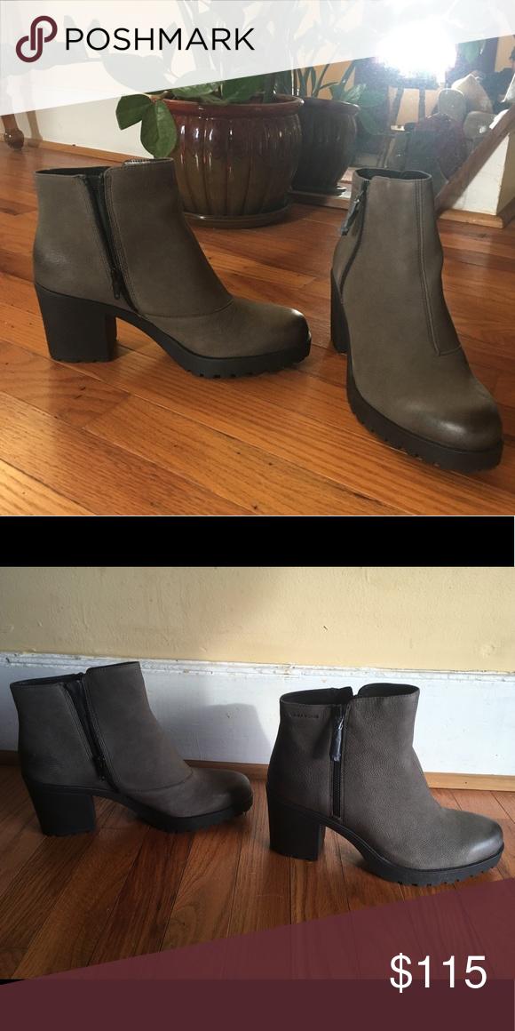 b0c546742ed Vagabond Grace side zip STONE GREY nubuck boots Cute and comfortable ...