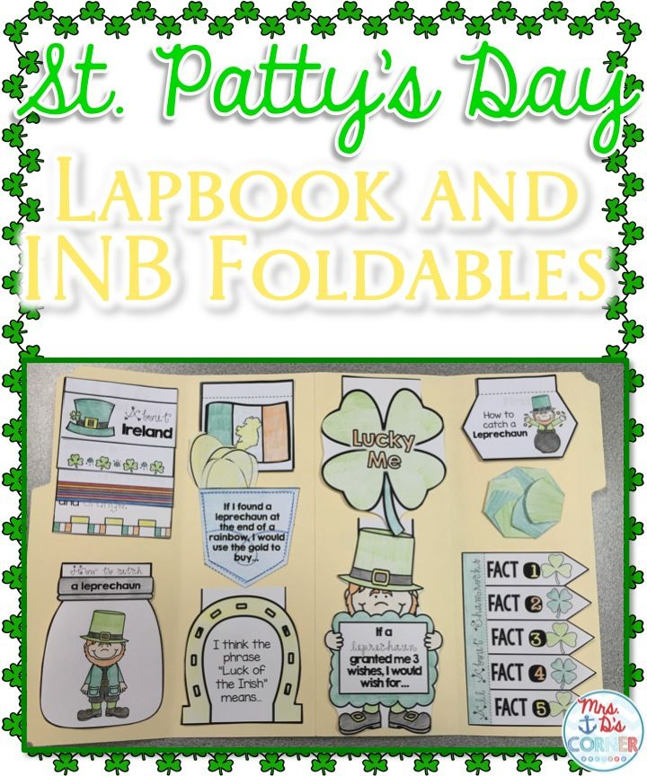 Saint Patrick's Day Interactive Notebook ( INB ) foldables and lapbook template. Low prep activities that gives facts and promotes the deeper meaning of the holiday! Great for connections to self and research projects!