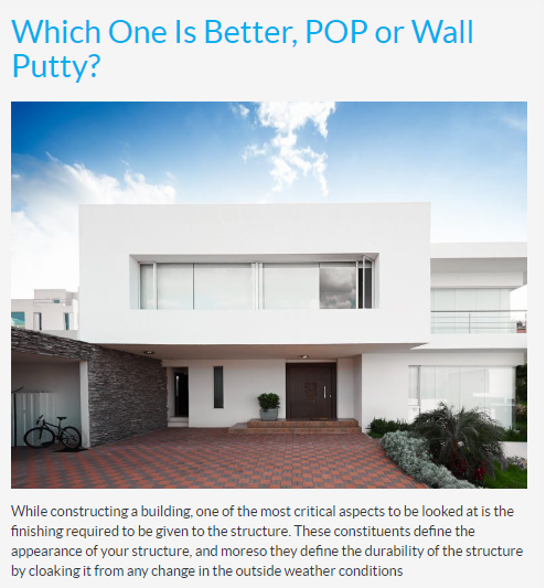Pop Or Wall Putty What Suits Better Wall Outdoor Decor Wall Primer