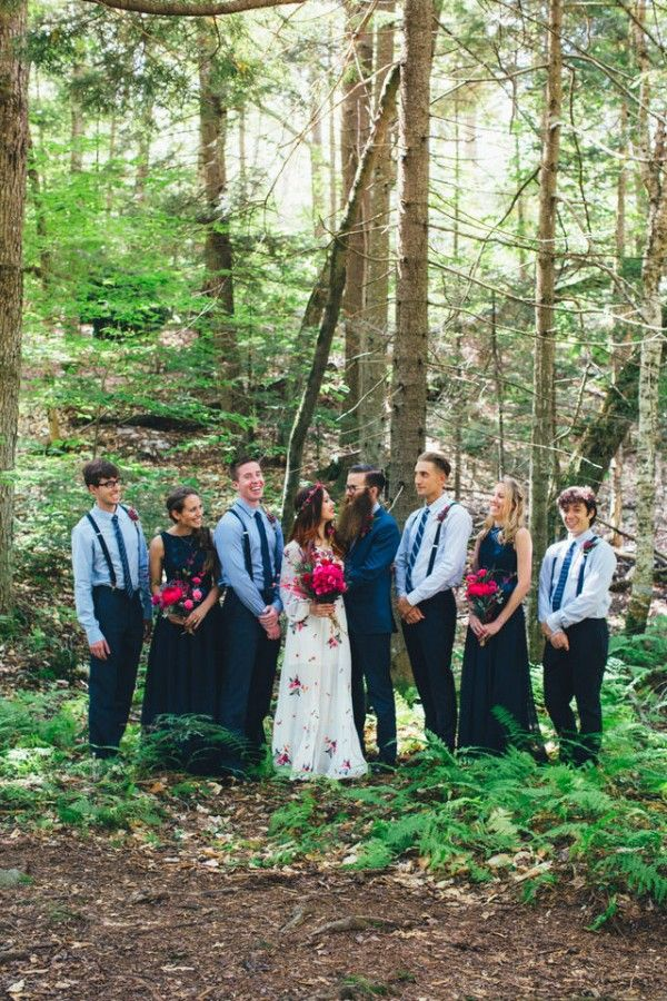 Whimsical Glam Londonderry Vermont Wedding in the
