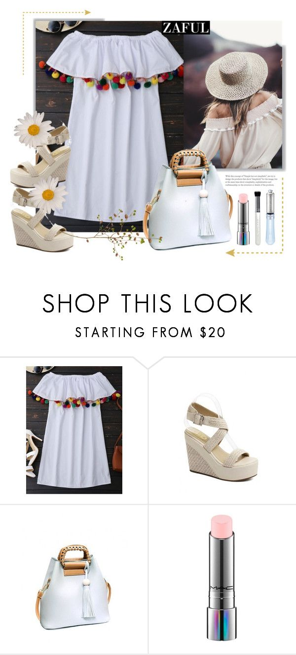 """Zaful.Running into the fields"" by natalyapril1976 ❤ liked on Polyvore featuring MAC Cosmetics and Boohoo"