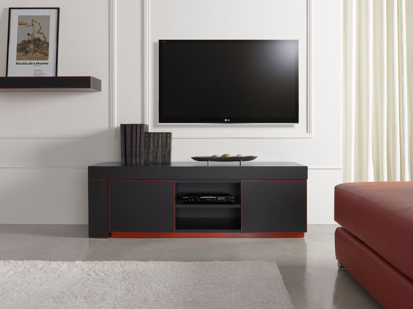 On The Wall Tv Unit Inessa Entertainment Centers Wallunits Furniture