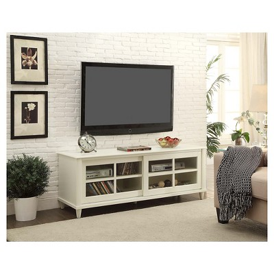 French Country Tv Stand White 60 Convenience Concepts