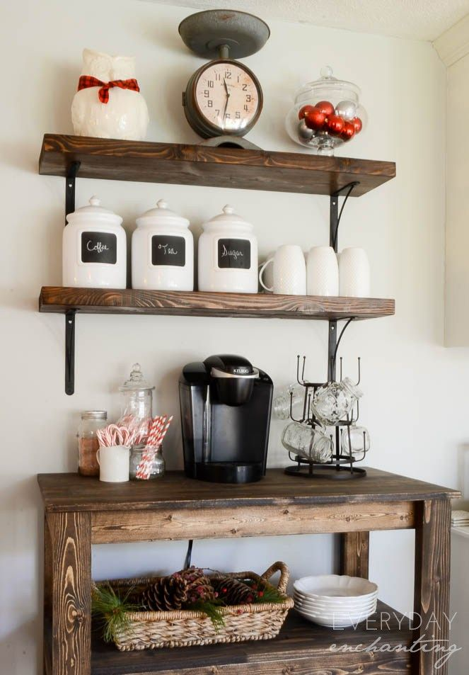 Christmas Home Tour 2014 | Coffee bar home, Coffee bars in ...
