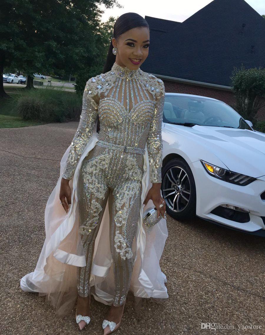 sexy prom dresses stunning crystal sheath evening wear long
