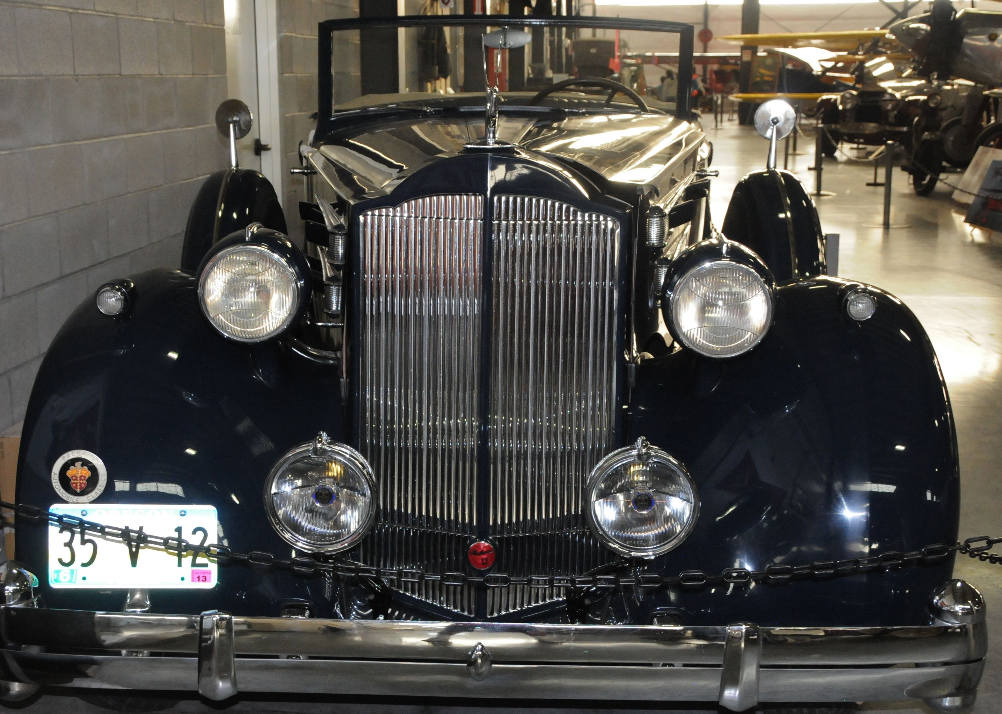 1935 Packard Model Twelve.  Photography by David E. Nelson