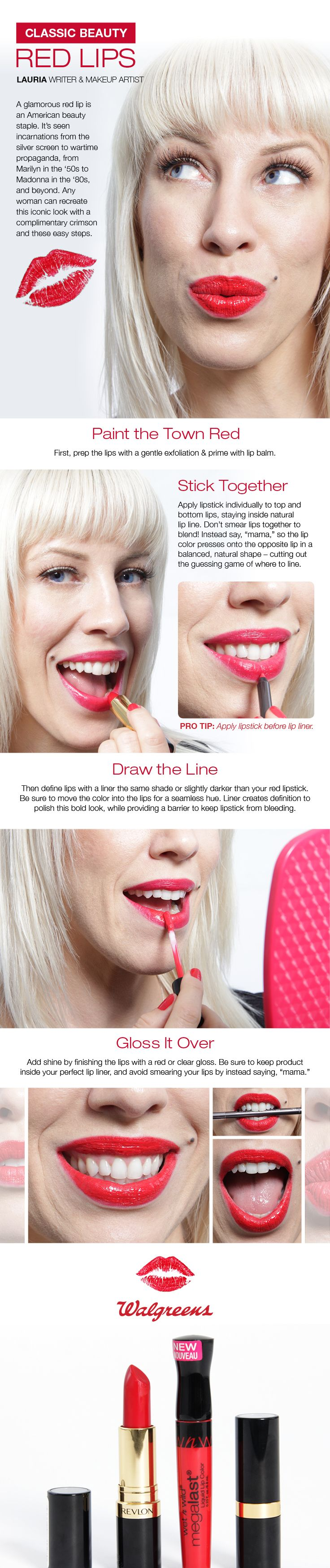 Every Woman Can Wear Red Lipstick! Makeup Artist Lauria Tells You How To  Apply This