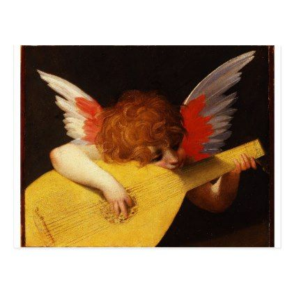 Rosso Fiorentino: The Musical Angel - Vintage Christmas Holiday Postcard   Zazzle.com.  The Musical Angel...