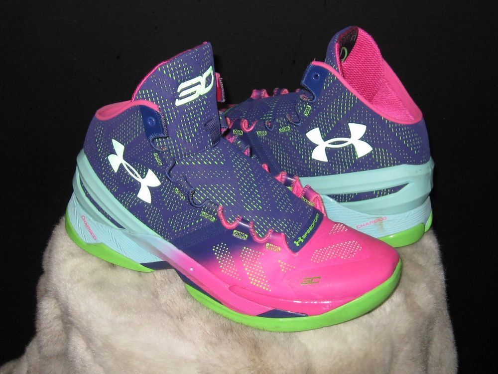64f230a8437 Men s Under Armour Charged Curry 2 Basketball Sneakers Sz 10.5 Multicolor  SC  UnderArmour  BasketballShoes