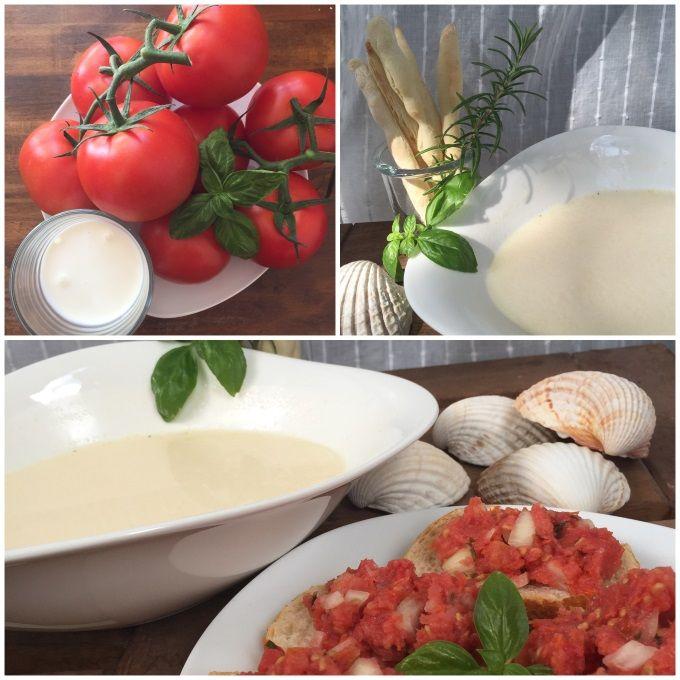 Weiße+Tomatensuppe+mit+Parmesanstangen+Rezept+zum+Selbermachen+-+Familienrezepte+zum+Selberkochen+und+Backen.