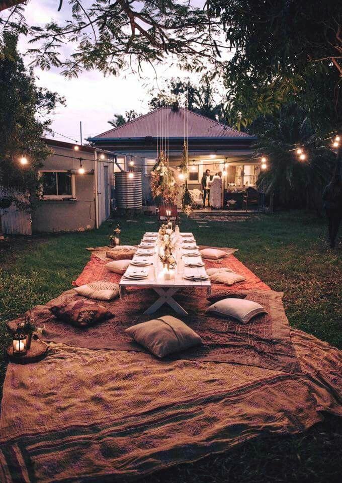 Garden Dinner With Images Backyard Outdoor Dinner Outdoor