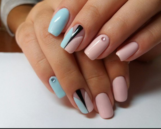 ногти, красивый дизайн ногтей, нейл арт, розовые ногти, голубые ногти | Ногти, Бирюзовые ногти, Красивые ногти