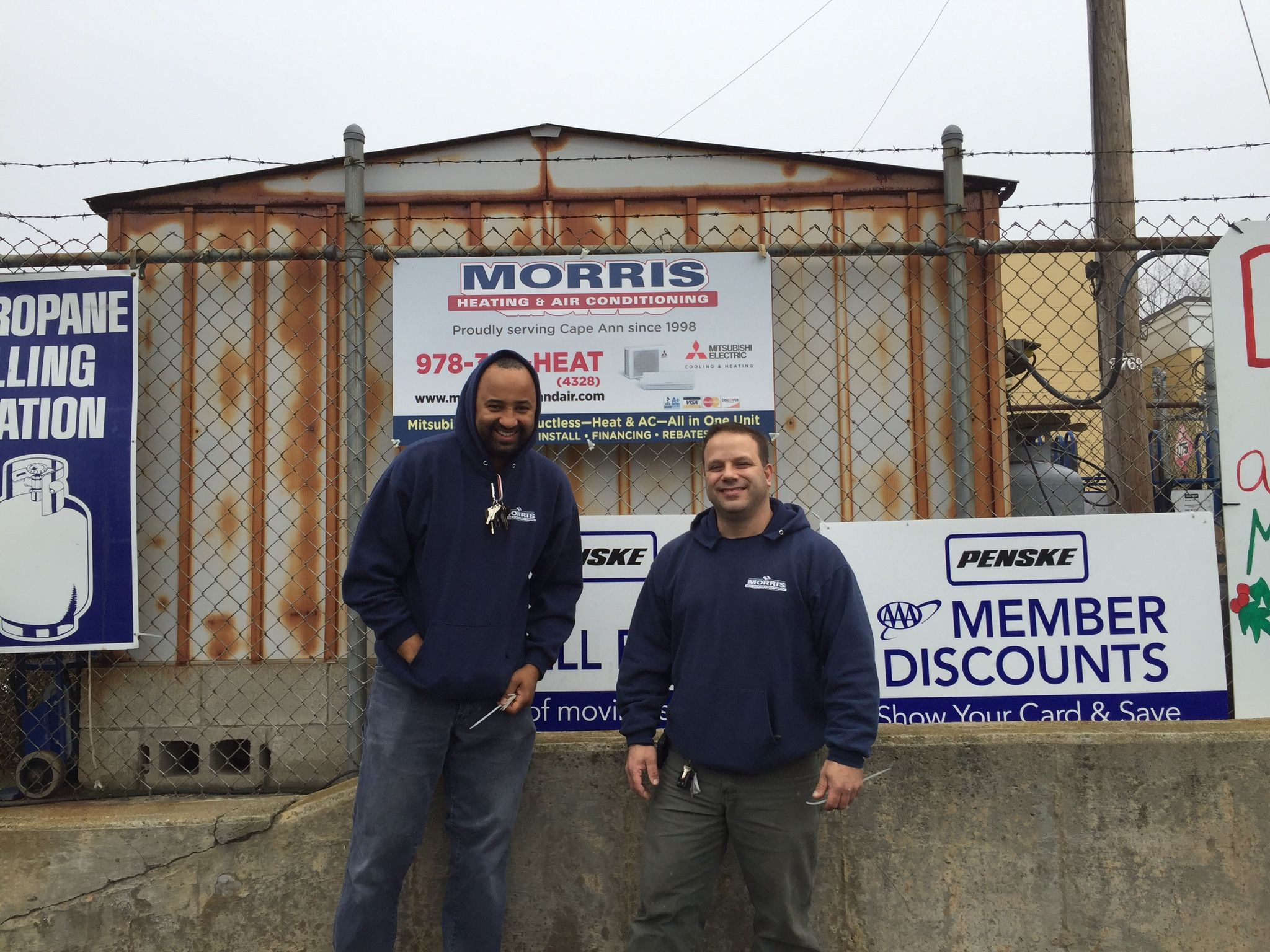 Tony And Chris Just Hung Our Sign On Fosters Grill Store Fence