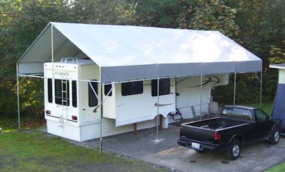 Rv Protection Portable Carport Rv Carports Trailer Living