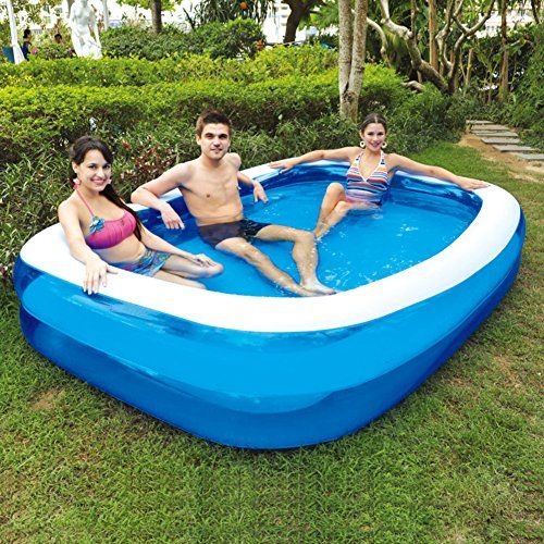 Family Inflatable Swimming Poolextra Large Padded Kids Poolrectangle Paddling Pool For Adultschildrens Bathsb C Swimming Pools Pool Inflatable Swimming Pool