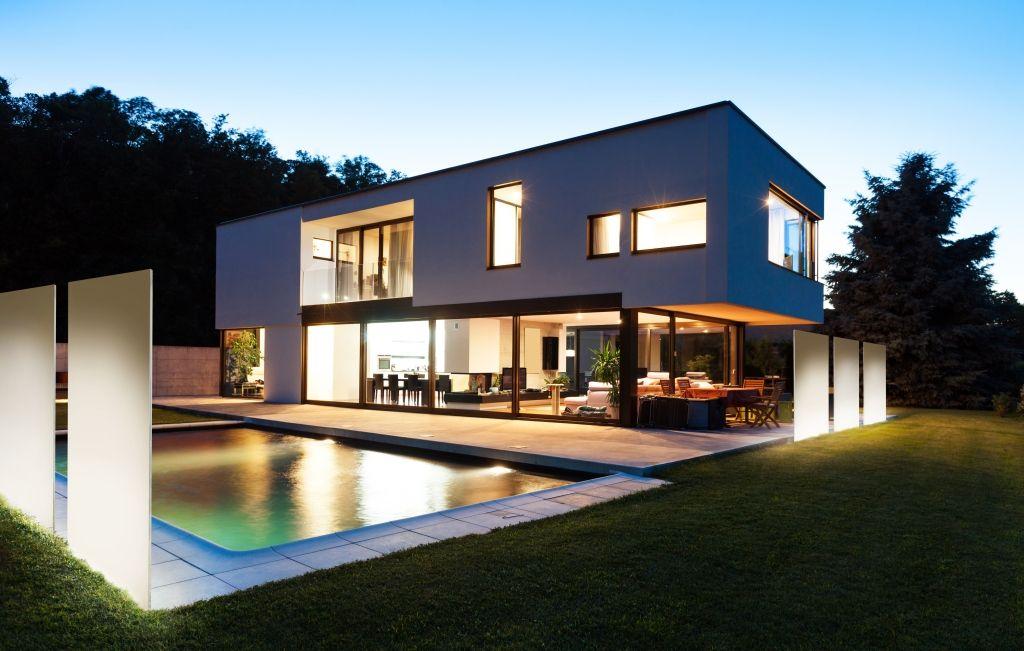 Haus Beleuchten knumox beton concreto knumox gartengestaltung modernes haus