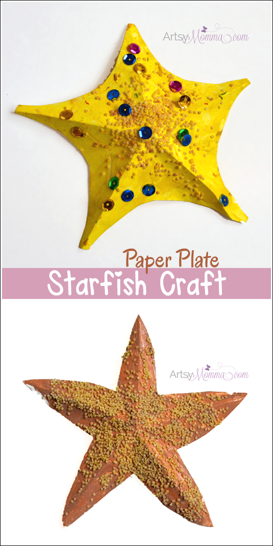 3D Paper Plate Starfish Craft using a free template & Starfish Craft for Kids + Template | Pinterest | 3d paper Starfish ...