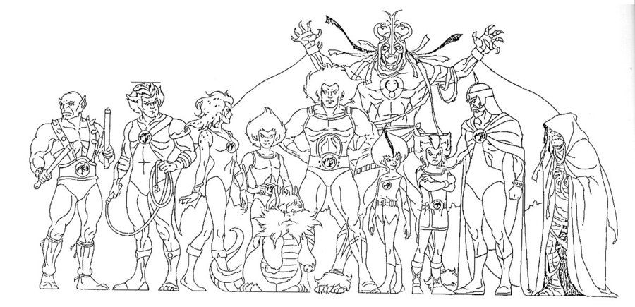 Thundercats sheet character line up this website have tons of model sheets from animations