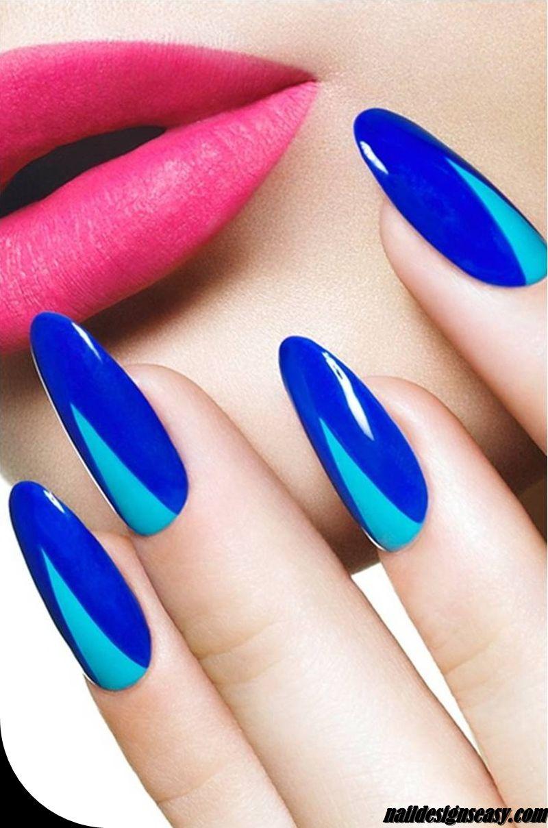 Funky Blue Nail Designs 2014 Summer Nails Pinterest Nails