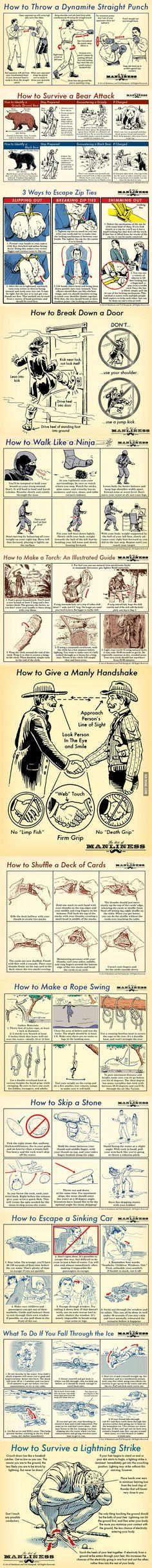 Manly Skills For Men Consejos De Supervivencia Habilidades De